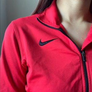 Nike Tops - Red Cardinal/Nike Dri-Fit Half Zip Up Long Sleeve